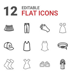 Wear icons vector
