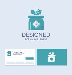 weight baby new born scales kid business logo vector image