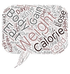 Weight Loss Starts in Your Head text background vector image