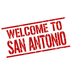 Welcome to san antonio stamp vector