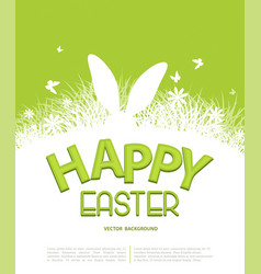 background for easter template for brochure vector image