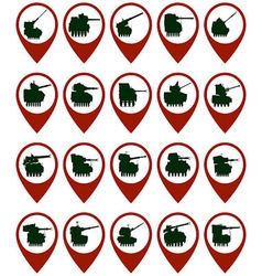 Badges with armored vehicles 1 vector image vector image