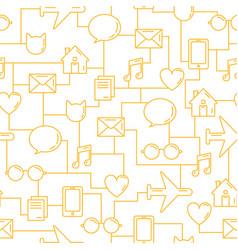 Business seamless pattern communications vector