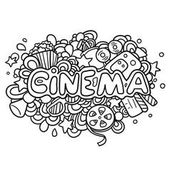 cinema doodle vector image vector image