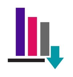 Color Bar Graph icon vector image vector image