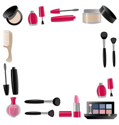 cosmetics isolated vector image vector image