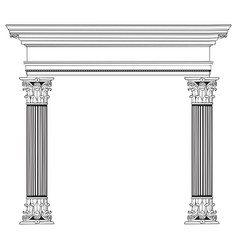 greek column and arch vector image