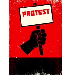 Protest vector image vector image
