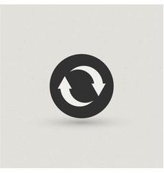reload sync icon vector image