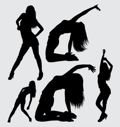 sexy and sensual girl silhouette vector image vector image