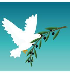 white dove vector image vector image
