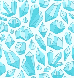 Crystals pattern vector image vector image
