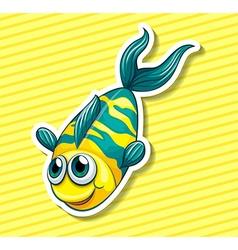 Happy fish vector