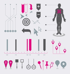 Map markers and pointers vector image vector image