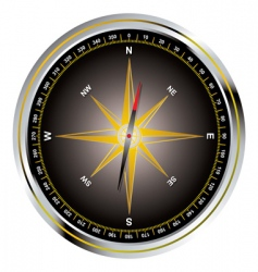 old fashioned compass vector image vector image