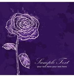 Valentine flower grunge invitation love card vector image vector image