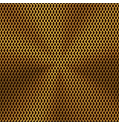 Background with Lozenge Pattern and Gold Texture vector image vector image