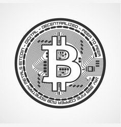 bitcoin sign crypto currency vector image vector image