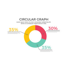 circular graph infographic element vector image vector image