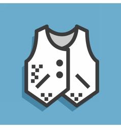 icon textile jacket vector image