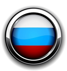 Russian flag button vector image