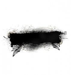 splatter banner vector image