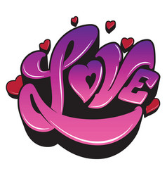 ultra violet sign the word love with heart vector image