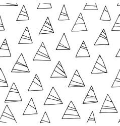 Abstract black and white seamless pattern with tri vector image vector image