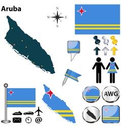 Aruba map vector