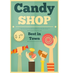 candy shop hands vector image vector image