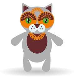Funny cat on a white background vector image vector image
