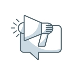 speech bubble with megaphone icon vector image