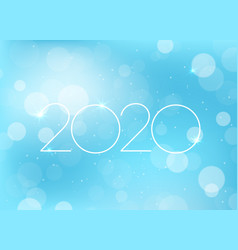 2020 new year greeting card vector image