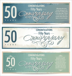 50 years Anniversary retro background vector