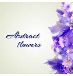 Abstract artistic Background with purple floral vector