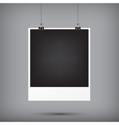 Abstract background blank instant photo frame vector
