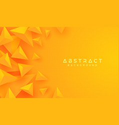 abstract modern 3d triangle orange yellow vector image