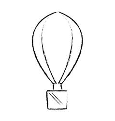 Airballoon recreation vacation travel sketch vector