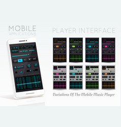Audio player template vector