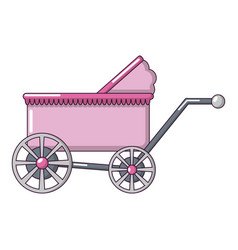 baby carriage ancient icon cartoon style vector image