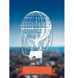 balloon over the city vector image