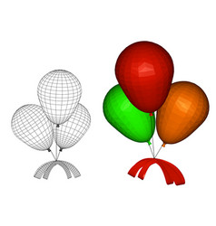 balloons with a bow vector image