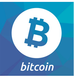 Bitcoin blockchain criptocurrency logo vector