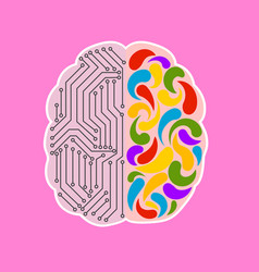 Brain metaphor is an engineering and creative mind vector