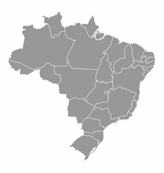 brazil map with states borders vector image
