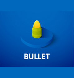 bullet isometric icon isolated on color vector image