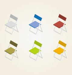 Chairs in color vector