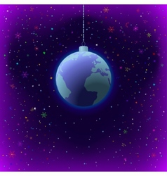christmas background earth in space vector image