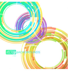 circular colors lines on a white vector image