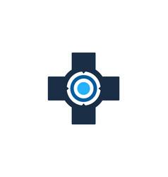 clinic target logo icon design vector image